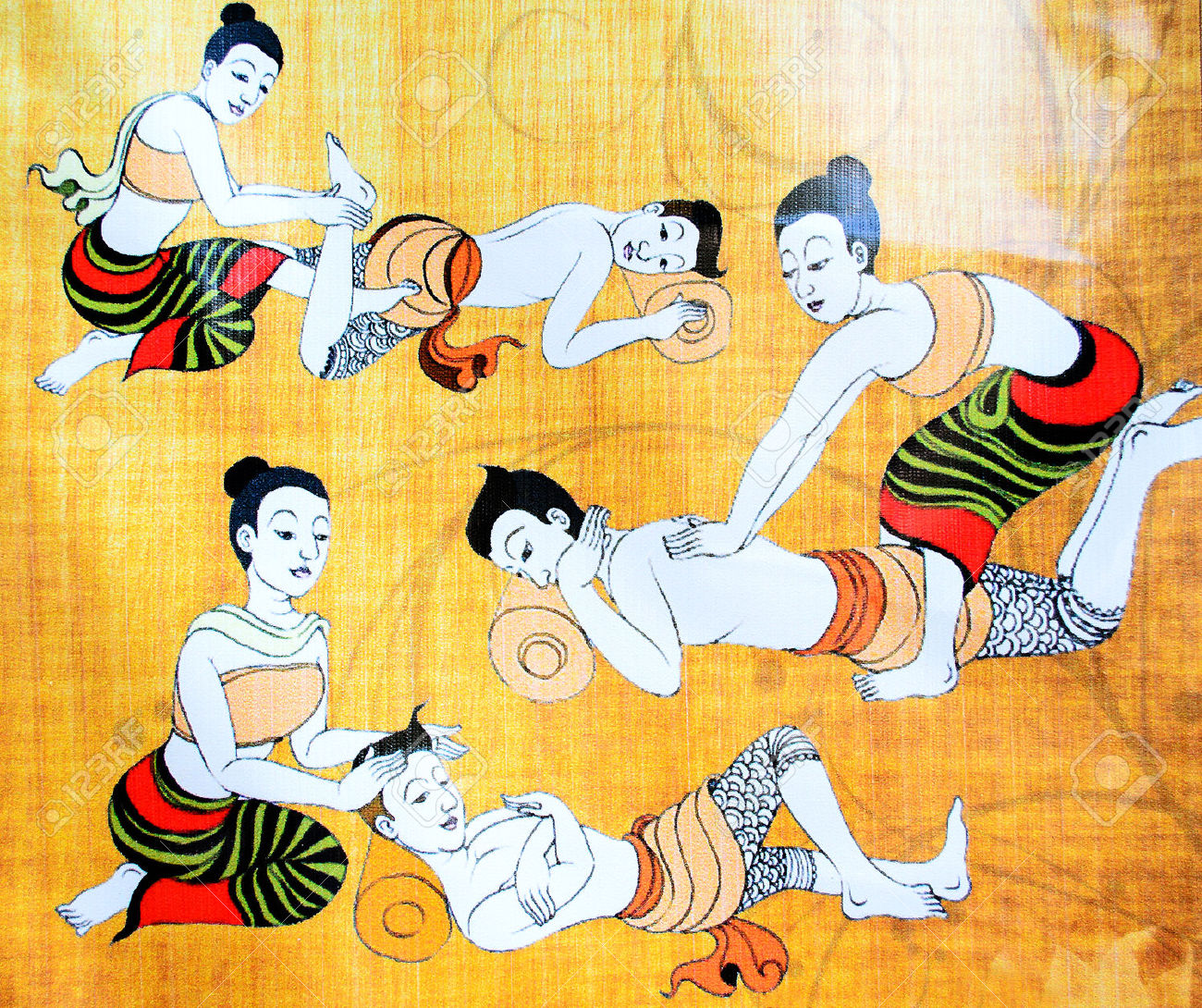 33776578-the-traditional-thai-massage-stock-photo